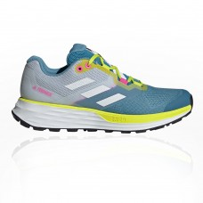 adidas Terrex Two Flow Women's Trail Running Shoes - SS21 Blue, White Cool the best TGOK316