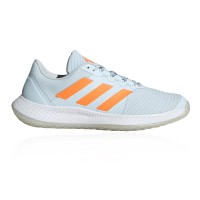adidas Force Bounce Women's Indoor Court Shoes Sky Tint/Signal Orange/Ftwr White For Wide Feet new in OWWH455