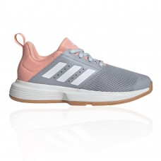 adidas Essence Women's Indoor Court Shoes - SS21 halo silver/ftwr white/glow pink For Wide Feet Fashion TBTR317