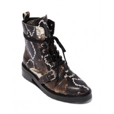 ALLSAINTS Women's Women's Donita Combat Boots Multi Snake Leather Casual VVWH672