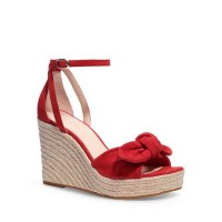 kate spade new york Women's Women's Tianna Almond Toe Knotted Bow Espadrille Wedge Sandals Lava Falls quality RTFH965