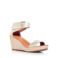 Gentle Souls by Kenneth Cole Womens Women's Charli Espadrille Wedge Sandals Ice Leather In Store VYPX863