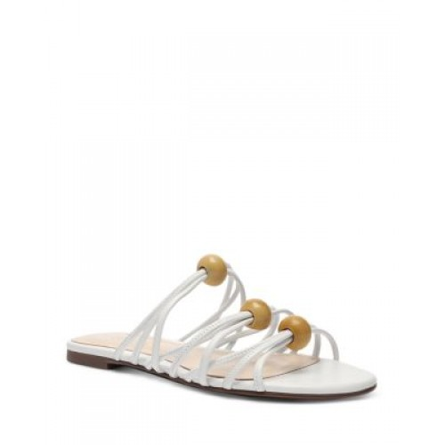 SCHUTZ Womens Women's Aster Strappy Embellished Sandals White high quality OAMY736