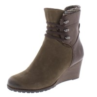 Women Ankle Boots Green Vert Casual Lucinda Womens Suede Mid-Calf Wedge Boots Regular Fit 9Q93I393