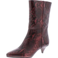 Women Ankle Boots Natural Warm Roccia Trends 2021 Crastel Womens Embossed Mid-Calf Boots DXG7K1413