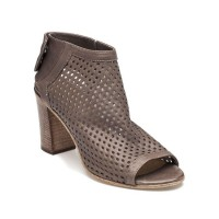 275 Central Women's Brown Perforated Bootie Taupe Leather Brand TKBQPHF